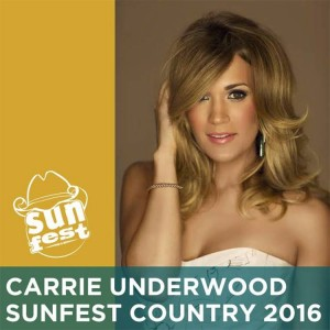 Carrie Underwood- SunFest 2016 Headliner