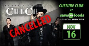 Culture Club- Cancelled
