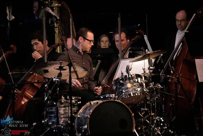 Drummer Jason Pierce with Chantal Kreviazuk