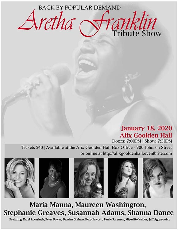 Aretha Franklin Tribute Show 2- Alix Goolden Hall